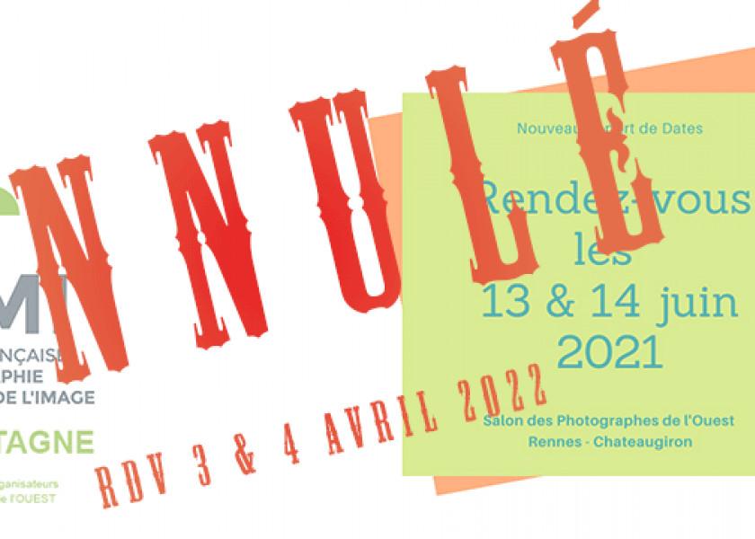 Annulation de l'édition 2021 du Salon des Photographes de l'Ouest près de Rennes