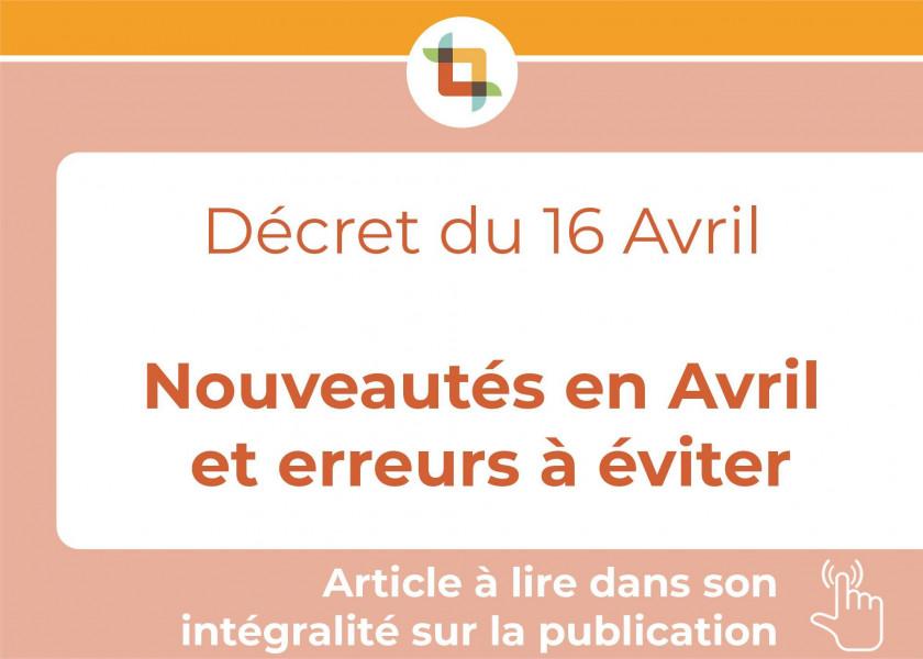 FONDS DE SOLIDARITÉ COVID - Décret du 16 avril