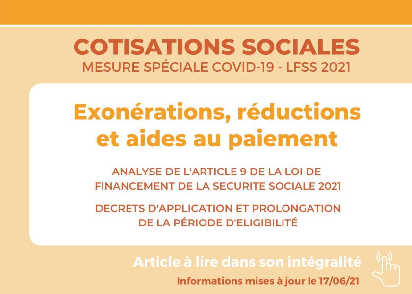 AIDES AU PAIEMENT DES COTISATIONS  ET CONTRIBUTIONS  SOCIALES