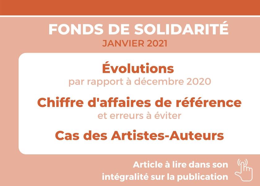 FONDS DE SOLIDARITÉ POUR LE MOIS DE JANVIER 2021