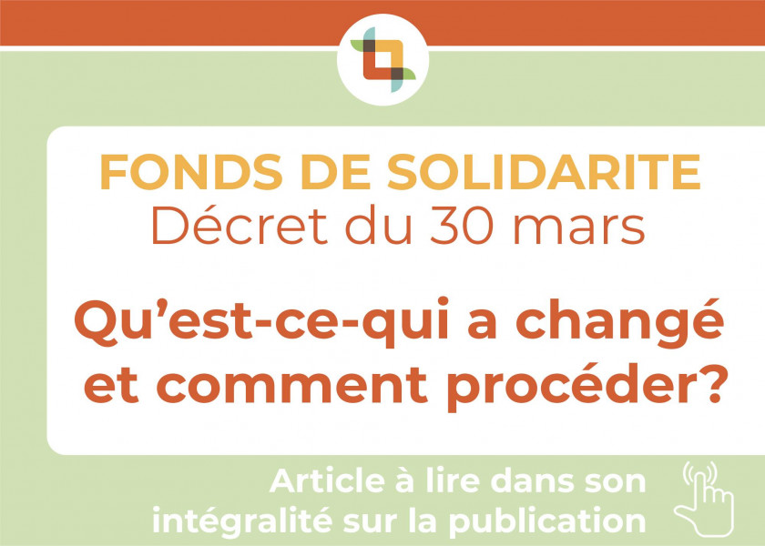 Application du décret - FONDS DE SOLIDARITÉ COVID-19